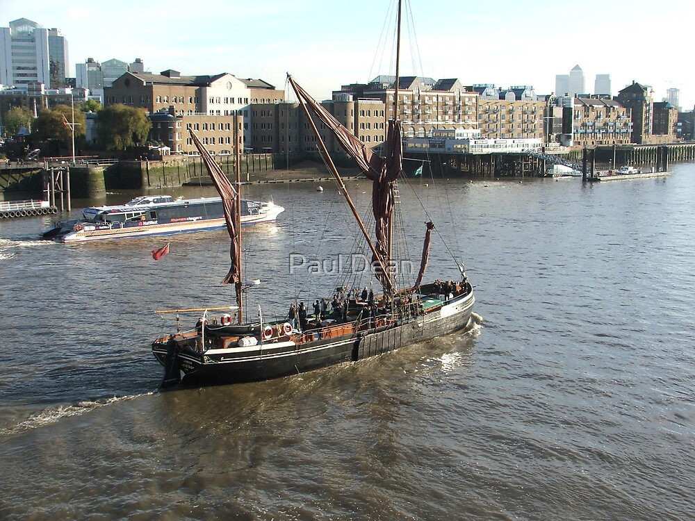 Wherry on the Thames  by Paul Dean