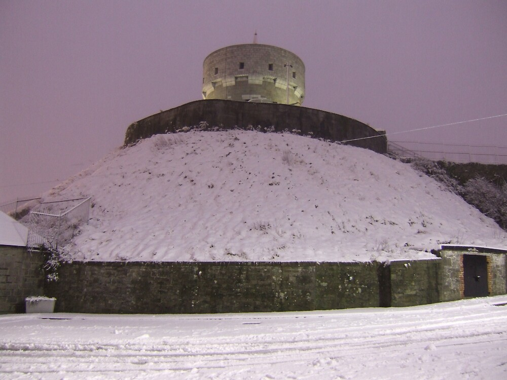 A Snow Covered Millmount by Munich