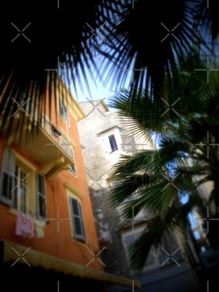 Back streets of old Corfu town. Greece by fruitcake