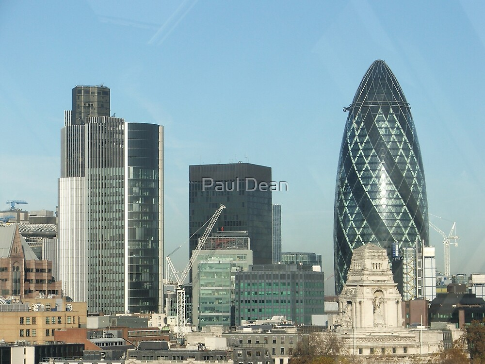 London City Sky Line by Paul Dean