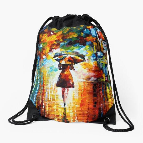 rain princess - Leonid Afremov Drawstring Bag