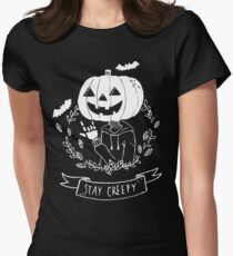Stay Creepy! Women's Fitted T-Shirt