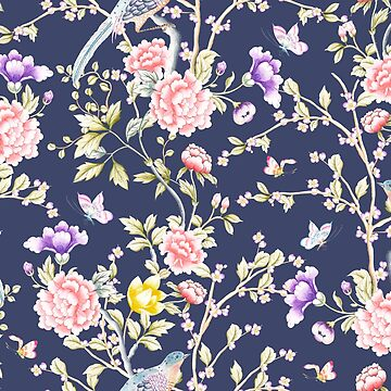 Chinoiserie Flowers and Birds Pattern by junkydotcom