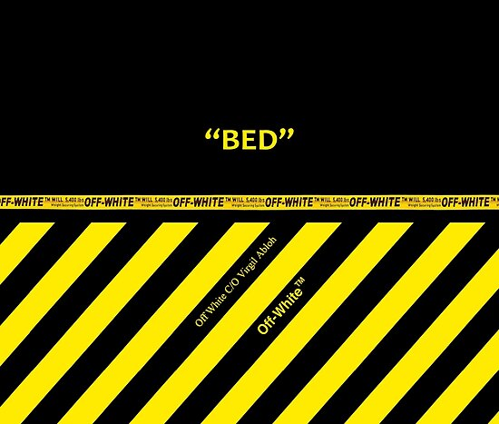 Quot Off White Bed Cover Full Yellow Stripes Quot Posters By