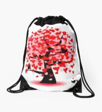 valentines day love soul mate romance Drawstring Bag