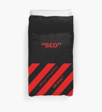 Off White Cover Bed Full Black and Red Duvet Cover