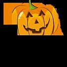Halloween Pumpkin Nebraska Adult Halloween Shirt by shoppzee