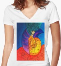 Nautilus Muse Women's Fitted V-Neck T-Shirt