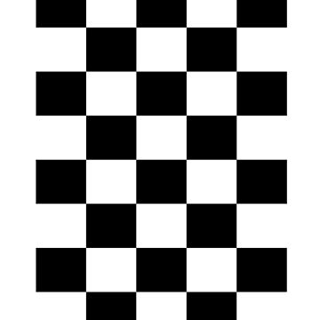 Checkerboard Tshirt  - Black and White Checkers by Tetete