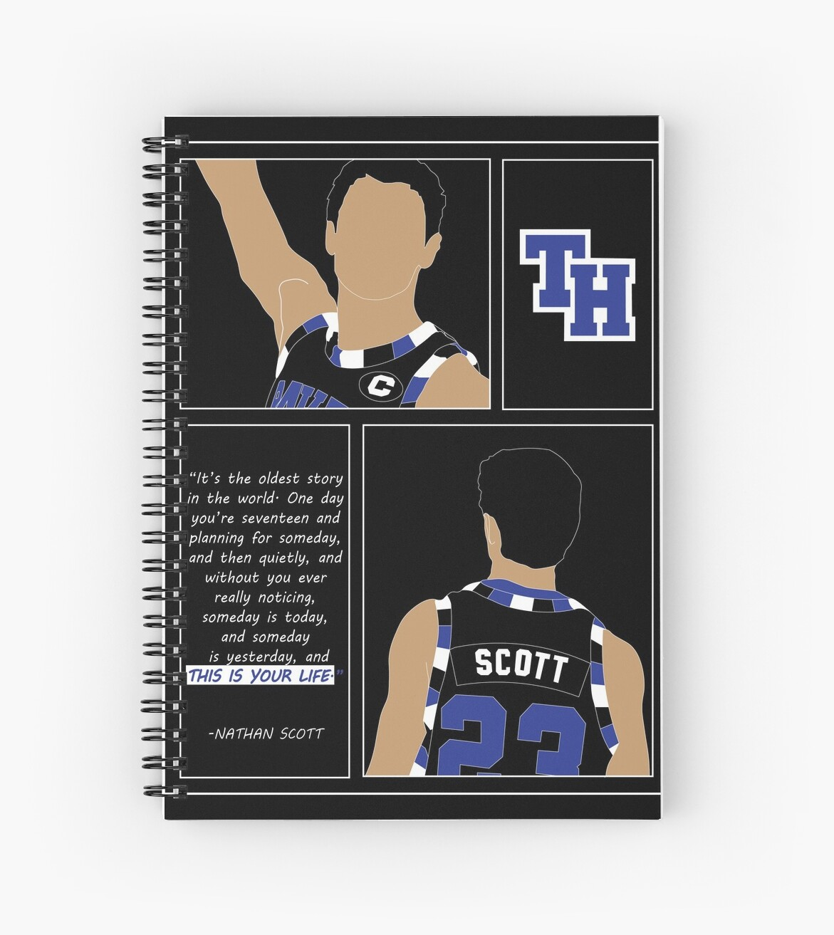 Nathan Scott One Day Youre Seventeen Quote One Tree Hill Graphic