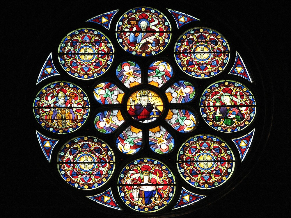 Stained glass in the church of Dreux by Jean31