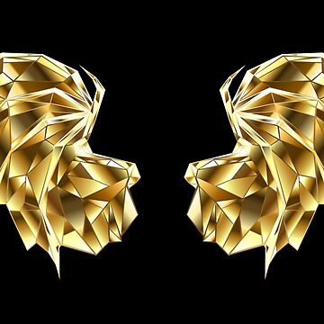 Gold Polygonal Dragon Wings by Blackmoon9