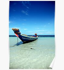 Tropical Boat Poster