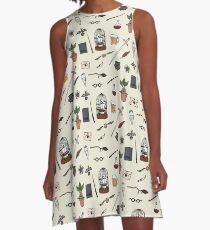 Owl and wand A-Line Dress