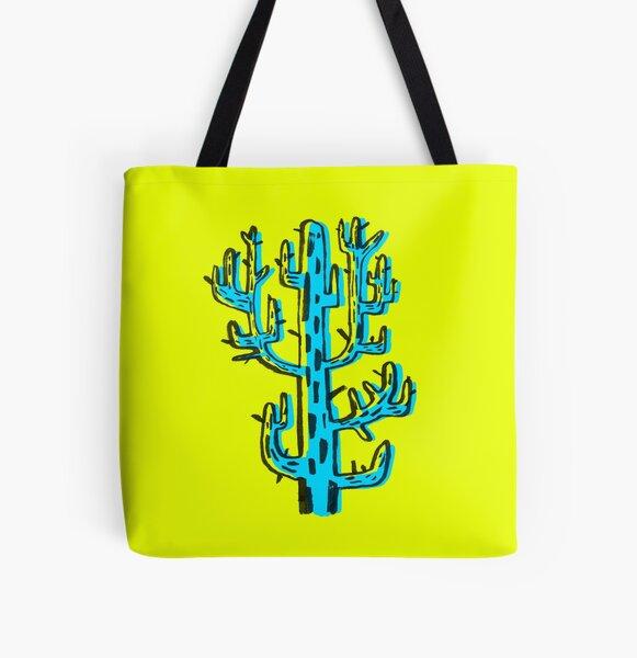 Cactus azul All Over Print Tote Bag