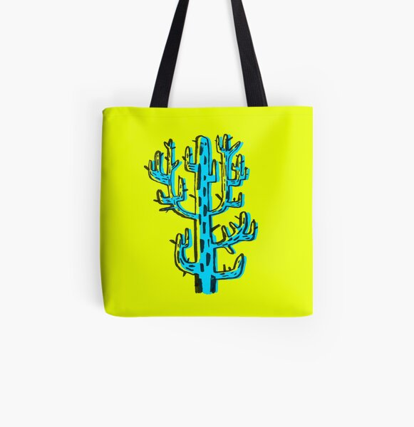 Cactus azul All Over Print Tote Bag