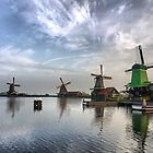 The Windmills of Amsterdam (3) by Larry Davis