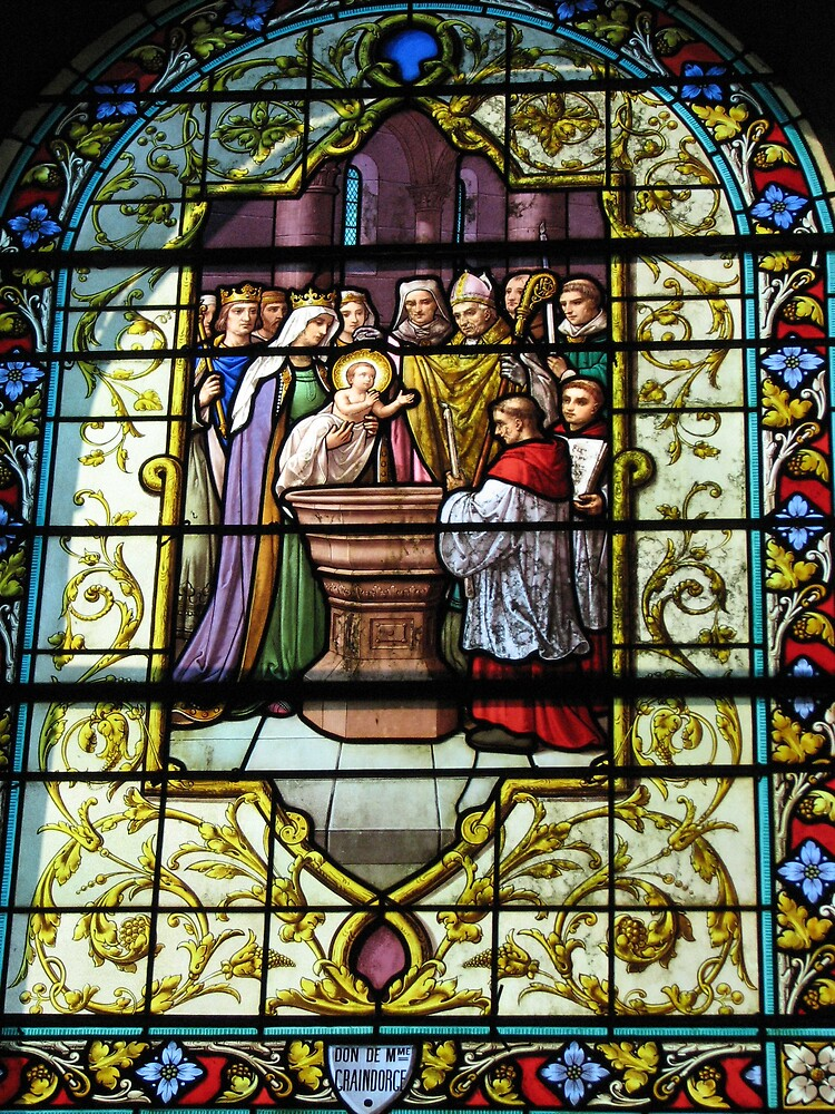 Stained glass in the small village of Cambremer_Normandy by Jean31