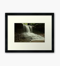 the Cascades of Glen Helen Framed Print