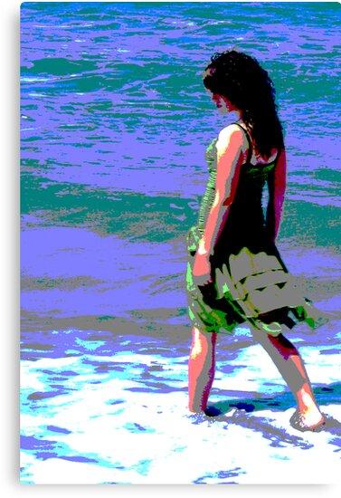 Beach Girl by Yvonne Segda