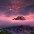 Hot sky and layered cloud at Puig Campana by Ralph Goldsmith