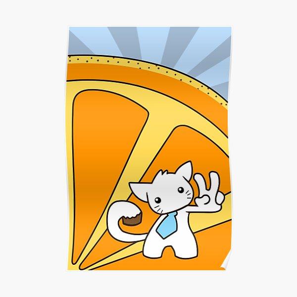 Tangerine Kitty Poster