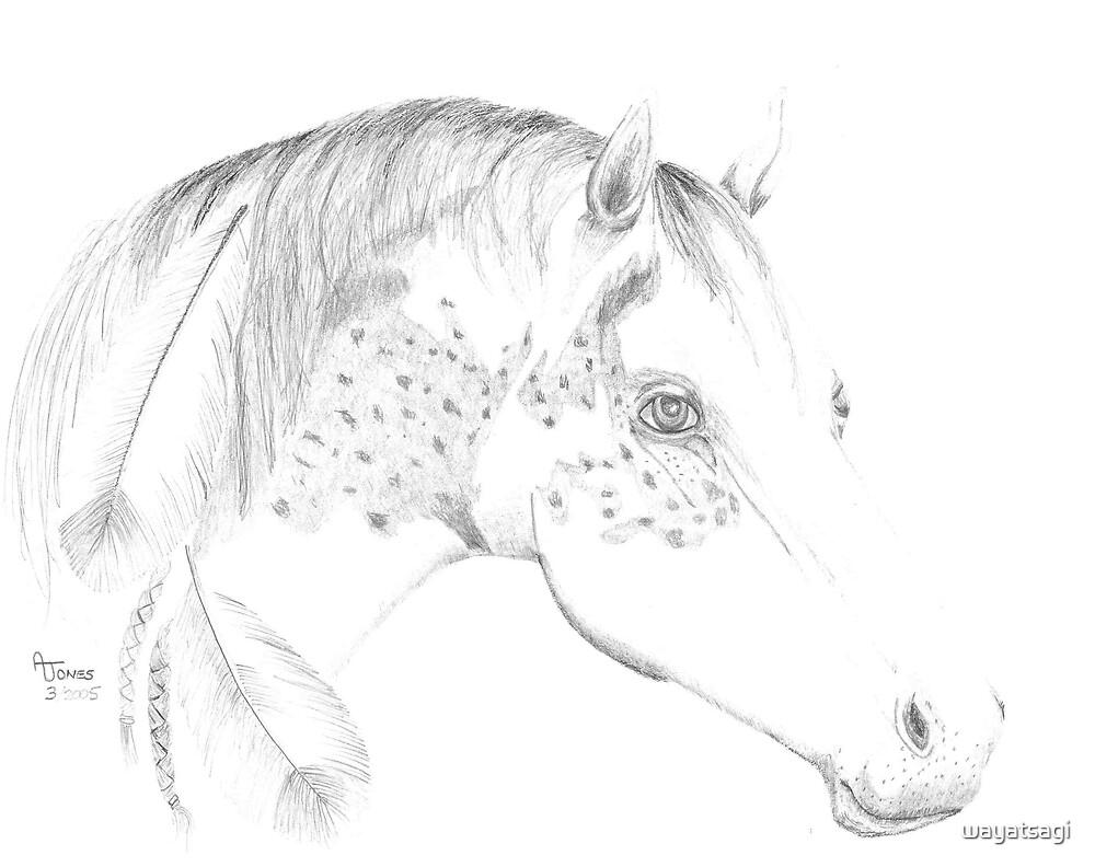 horse with feathers by wayatsagi