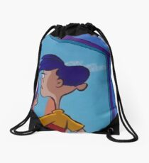 Rolf Stares Out A Window Drawstring Bag