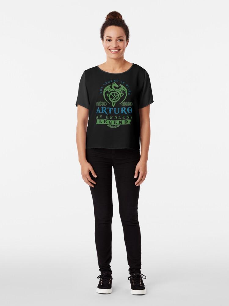 Alternate view of Legend T-shirt - Legend Shirt - Legend Tee - ARTURO An Endless Legend Chiffon Top