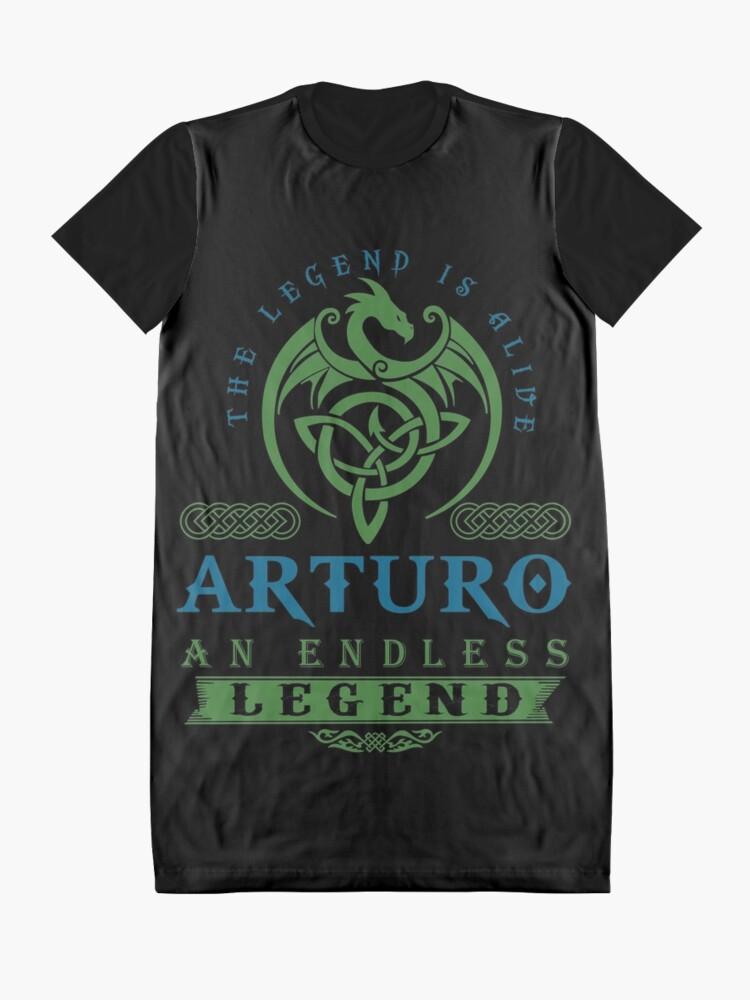 Alternate view of Legend T-shirt - Legend Shirt - Legend Tee - ARTURO An Endless Legend Graphic T-Shirt Dress