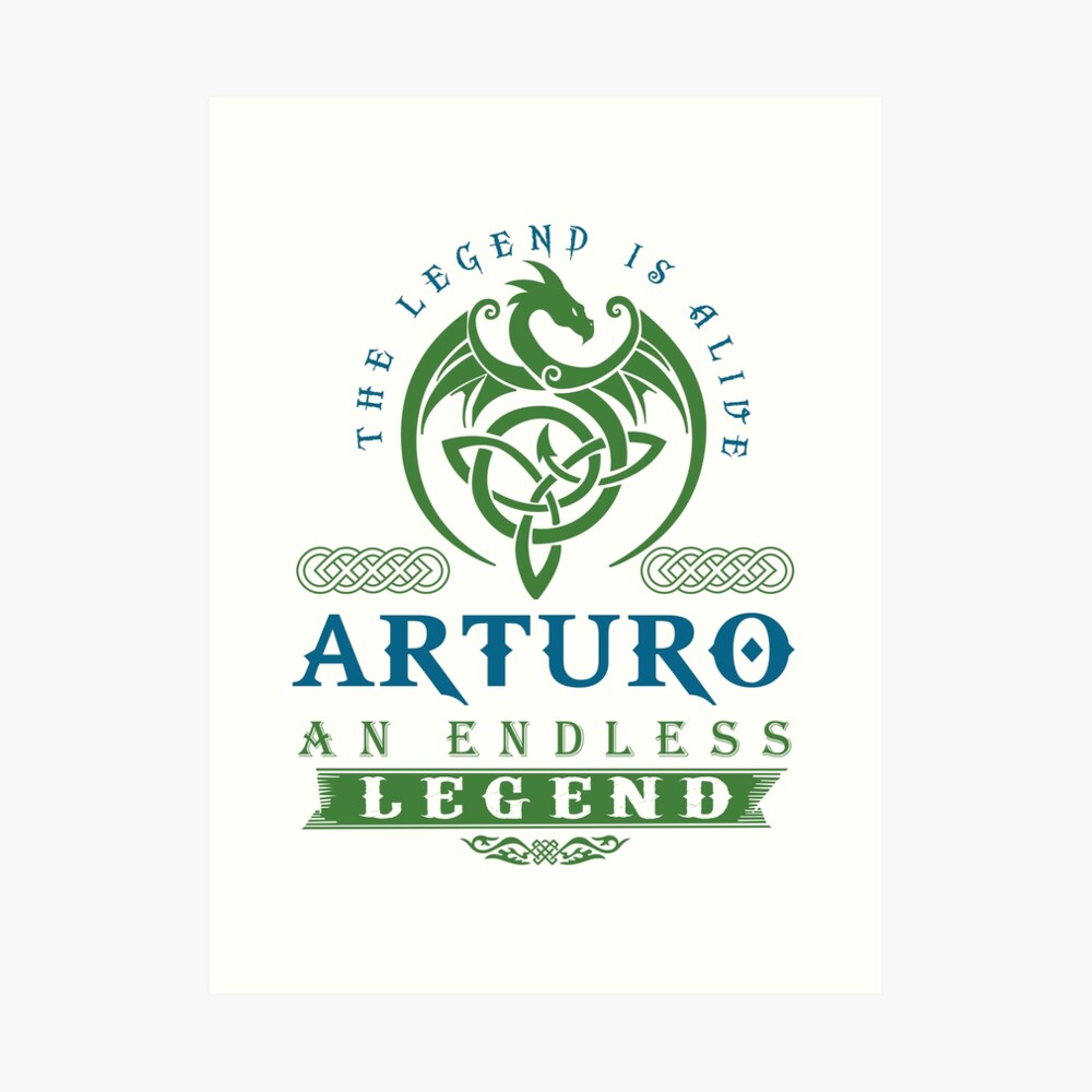 Legend T-shirt - Legend Shirt - Legend Tee - ARTURO An Endless Legend Art Print