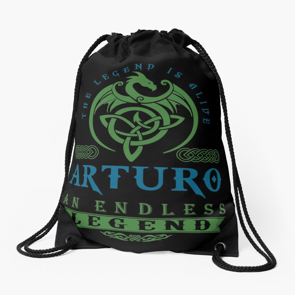 Legend T-shirt - Legend Shirt - Legend Tee - ARTURO An Endless Legend Drawstring Bag