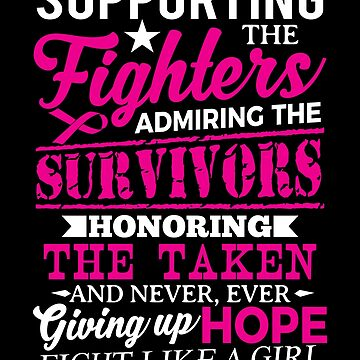 Fight like a Girl - Cancer Awareness by valuestees