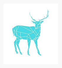 Hand drawn Stag Photographic Print