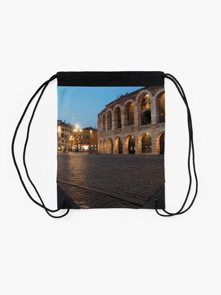Alternate view of L'Arena, Verona, Italy Drawstring Bag
