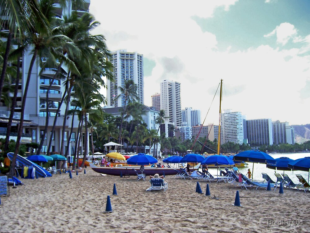 Early Morning Waikiki by Bradley Old