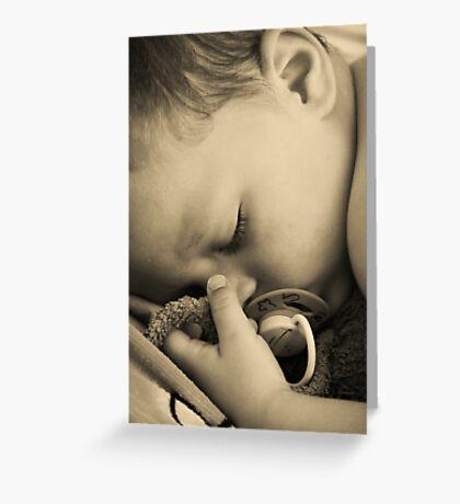 SLEEPING BABY (PEACE) Greeting Card