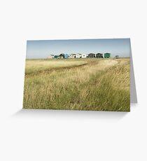 Seasalter Beach Huts Greeting Card