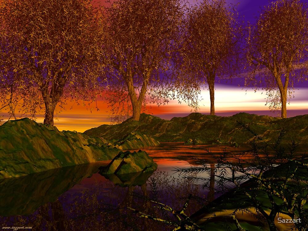 Autumn on Fire Creek by Sazzart