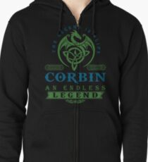 Legend T-shirt - Legend Shirt - Legend Tee - CORBIN An Endless Legend Zipped Hoodie