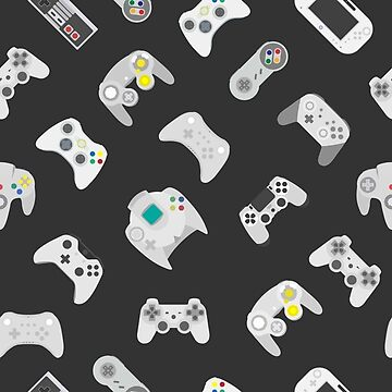Video game controller background Gadgets and Devices seamless Gamepad pattern by Darcraft28