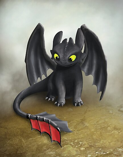 Toothless Dragon inspired from How To train Your Dragon. by Art Landing
