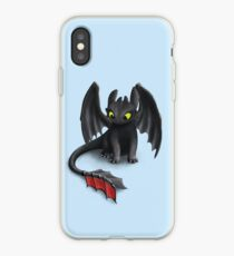 Toothless, Night Fury Inspired Dragon. iPhone Case