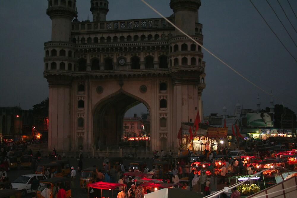 charminar of Hyderabad India by jayantilalparma