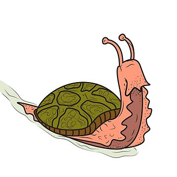 Tortoise snail animal funny slow nature Fu by MyShirt24