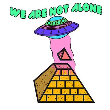 Alien pyramid spaceship beam funny saying by MyShirt24