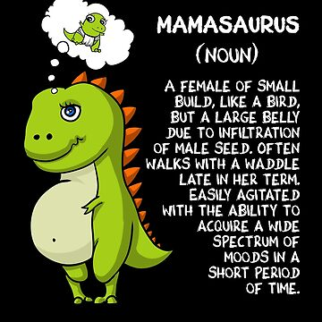 Mom T-Rex Dinosaur Mamasaurus Funny Future Mother by underheaven
