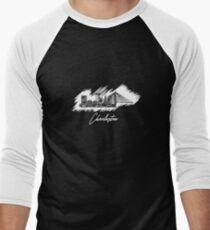 Charleston graphic scribble skyline  Men's Baseball ¾ T-Shirt