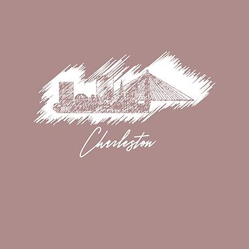 Charleston graphic scribble skyline  by DimDom