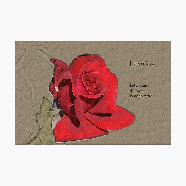 Love is... Photographic Print